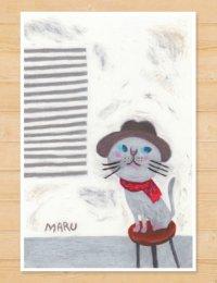 MARU イラスト 「猫と椅子」