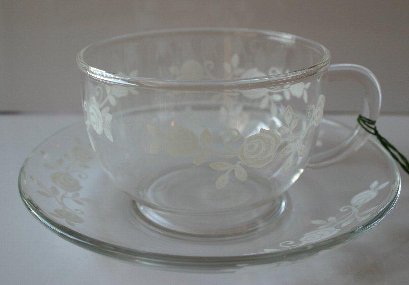 画像1: ガラスC&S(白薔薇)