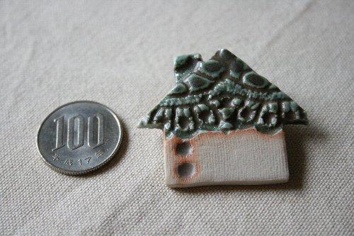 画像1: 陶器ブローチ ハウスA