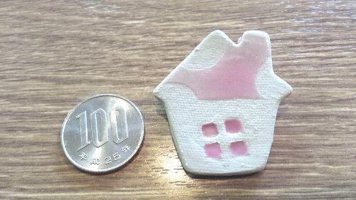 画像1: 陶器ブローチ ハウスG