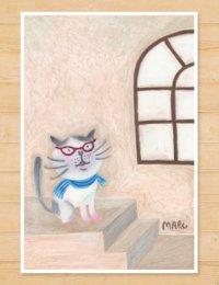 MARU イラスト 「猫と眼鏡」