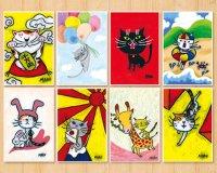 MARU イラスト ポストカード 8枚セット「招き猫2」
