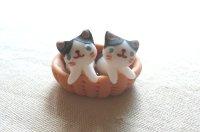 バスケット猫2匹A