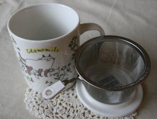 画像2: ハーブマグカップ 猫とカモミール
