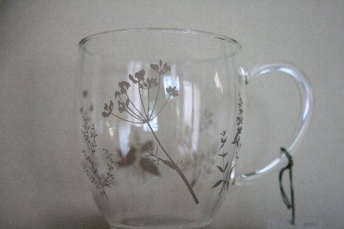 画像2: ハーブティマグカップ(ハーブ柄ベージュ)