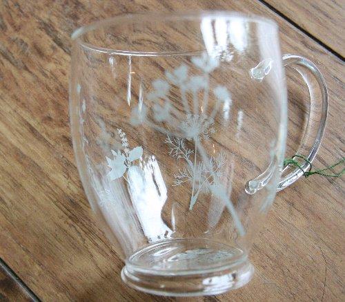 画像2: ハーブティマグカップ(ハーブ柄グレー)