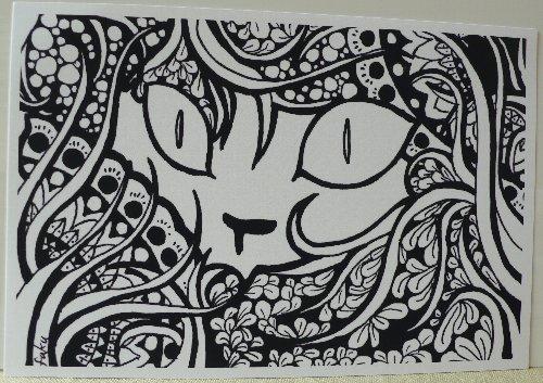 画像1: 福猫横丁 ポストカード「to・ri・ko」