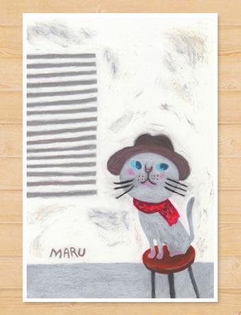 画像1: MARU イラスト 「猫と椅子」