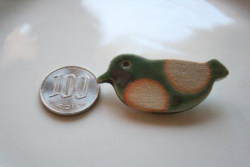 画像1: 陶器ブローチ 鳥P