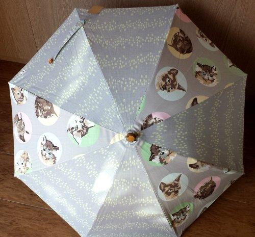 画像1: 花猫 日傘 C
