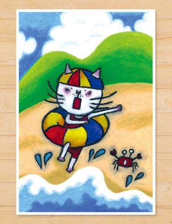画像1: MARU イラスト ポストカード 「夏休み」