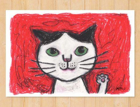 画像1: MARU イラスト ポストカード 「ラジャッ!」