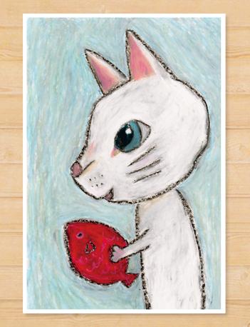 画像1: MARU イラスト ポストカード 「プレゼント」