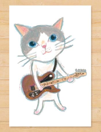 画像1: MARU イラスト ポストカード 「ギター」