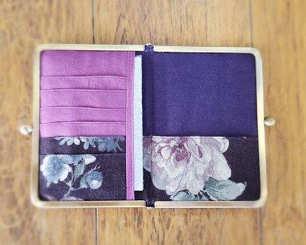 画像3: お薬手帳ケース/母子手帳ケース YUWA紫薔薇