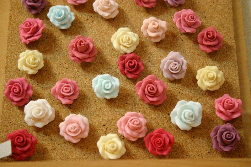 画像1: 薔薇の画びょう